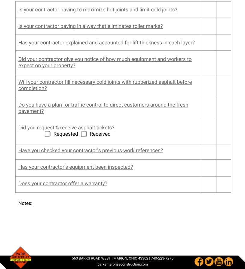 Asphalt Paving Quality Assurance Checklist Park Enterprise Construction (1)-1