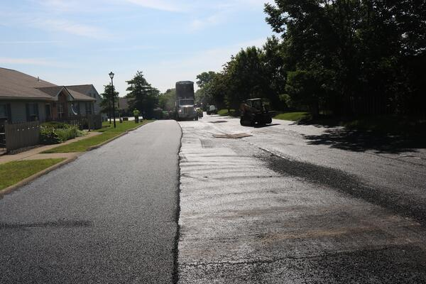Commercial asphalt lot installation