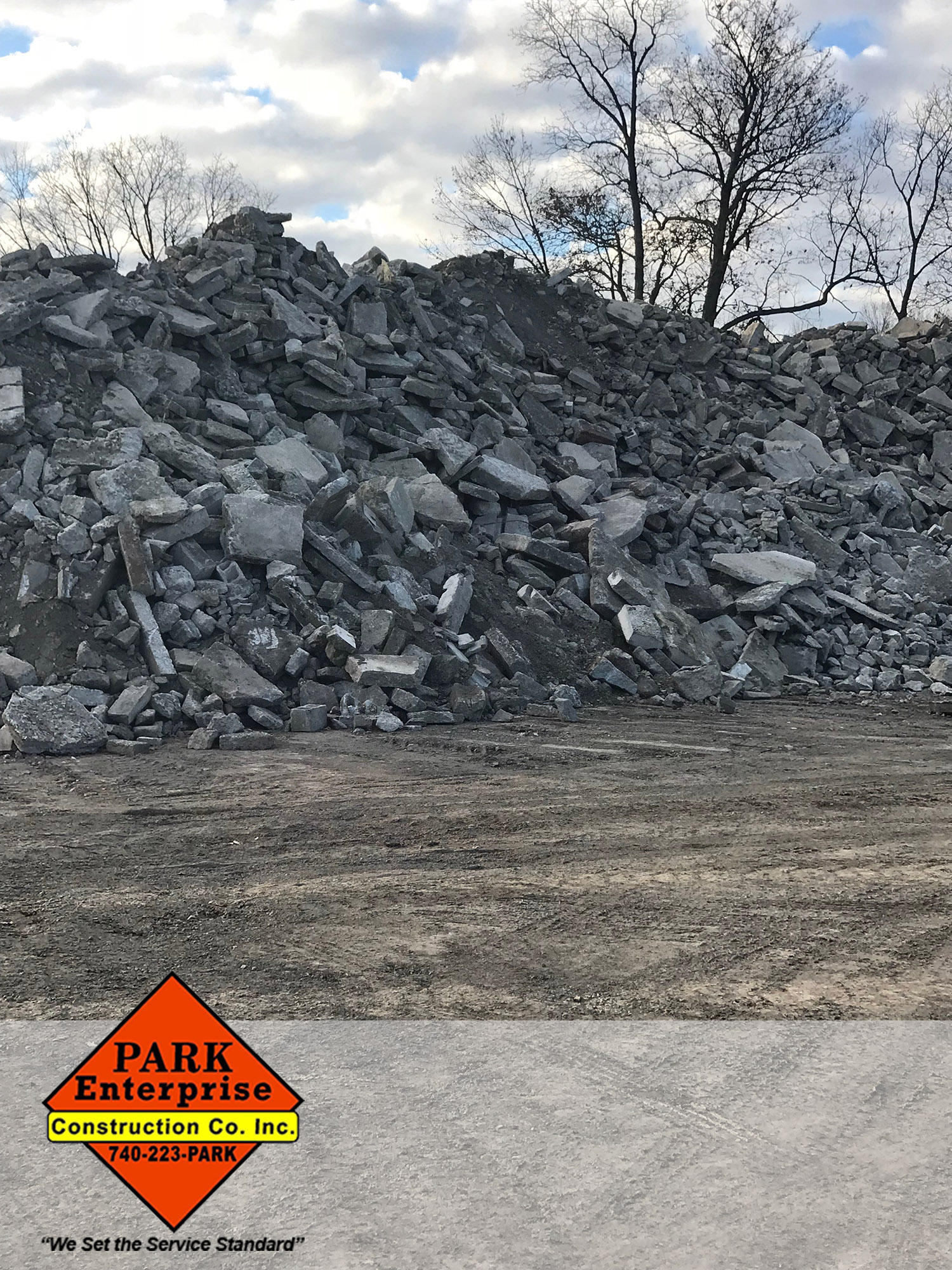 Park Enterprise Construction crushed concrete