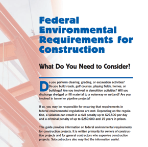 federal environmental requirements for construction