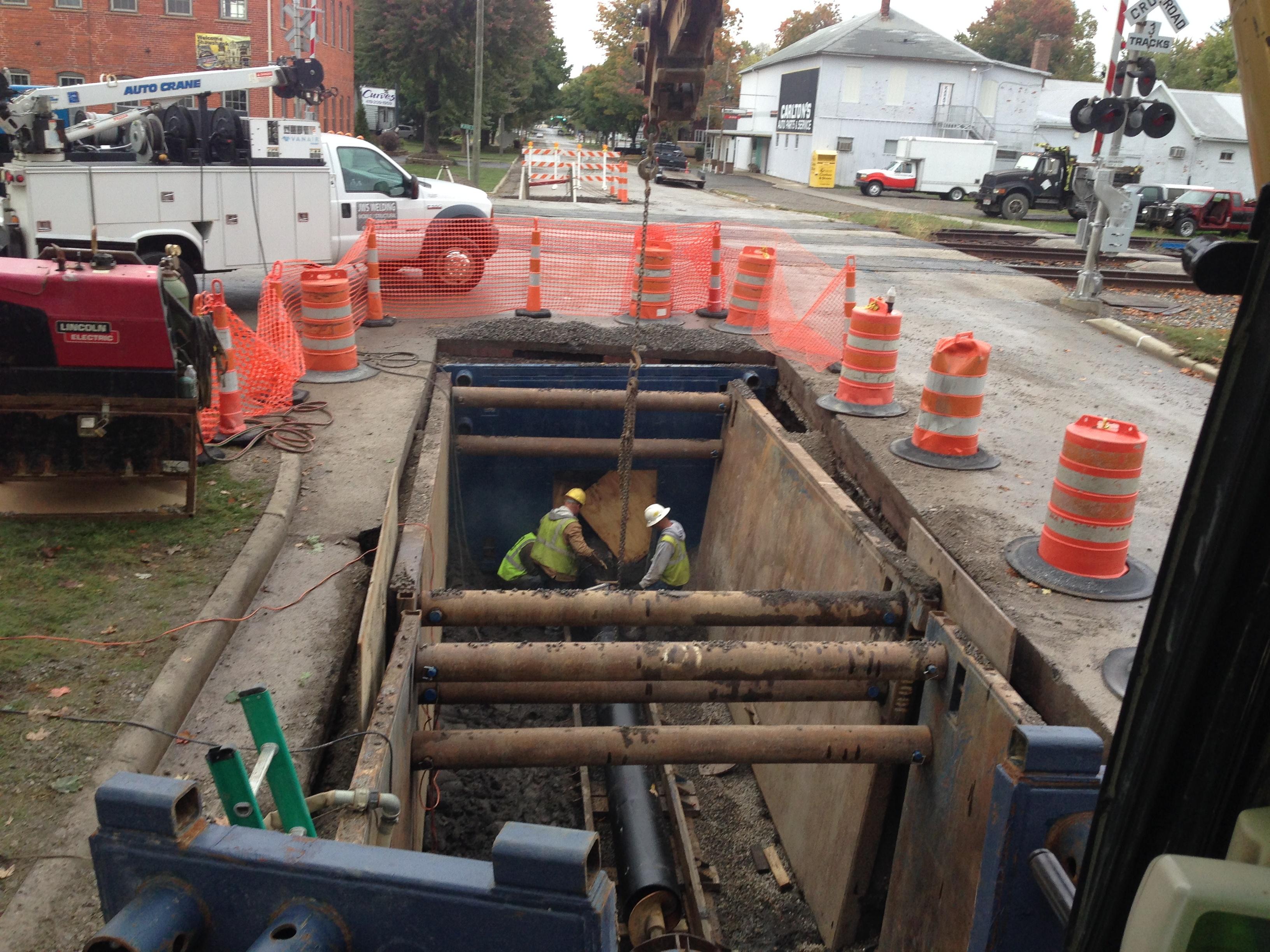 Park Enterprise Construction water line installation